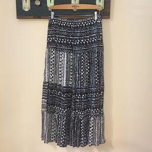 2/$18 Impress Aztec Pattern Long  Skirt Size Large
